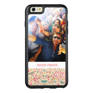 Custom Photo & Text Bright floral pattern OtterBox iPhone 6/6s Plus Case