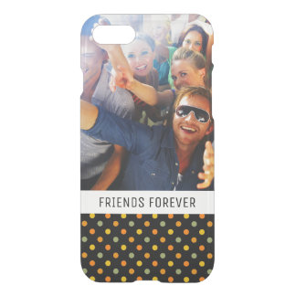 Custom Photo & Text Bright Polka Dot Pattern iPhone 8/7 Case