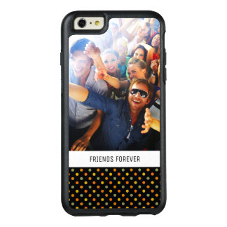 Custom Photo & Text Bright Polka Dot Pattern OtterBox iPhone 6/6s Plus Case
