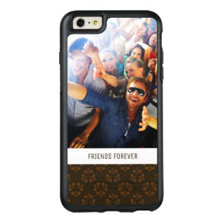 Custom Photo & Text Brown abstract pattern OtterBox iPhone 6/6s Plus Case