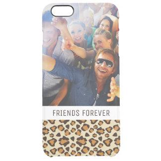 Custom Photo & Text Cheetah skin pattern Clear iPhone 6 Plus Case