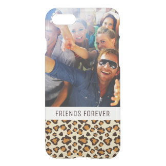 Custom Photo & Text Cheetah skin pattern iPhone 8/7 Case