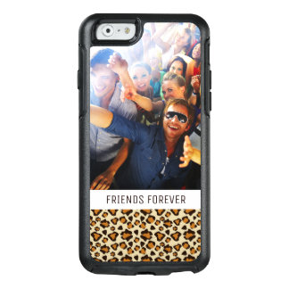 Custom Photo & Text Cheetah skin pattern OtterBox iPhone 6/6s Case