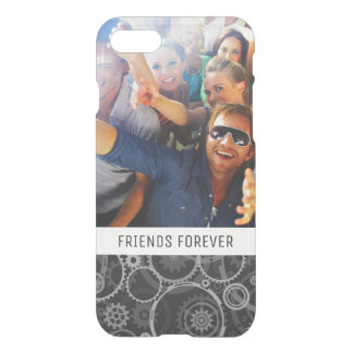 Custom Photo & Text Cogwheels pattern iPhone 8/7 Case