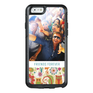 Custom Photo & Text Color Floral and Owl OtterBox iPhone 6/6s Case