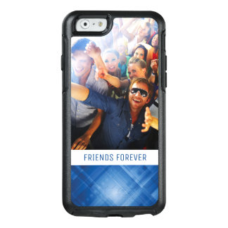 Custom Photo & Text Dark blue hi-tech background OtterBox iPhone 6/6s Case
