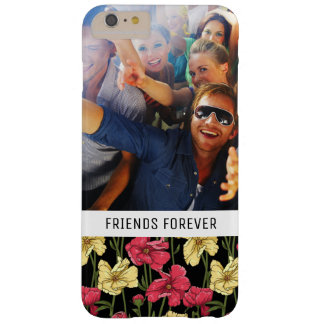 Custom Photo & Text Elegant floral pattern 2 Barely There iPhone 6 Plus Case