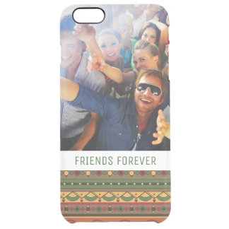 Custom Photo & Text Ethnic background Clear iPhone 6 Plus Case