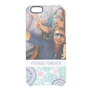 Custom Photo & Text Ethnic Paisley Pattern Clear iPhone 6/6S Case
