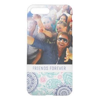 Custom Photo & Text Ethnic Paisley Pattern iPhone 8 Plus/7 Plus Case