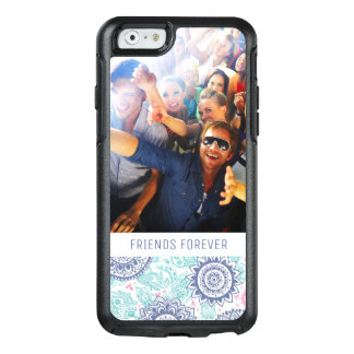 Custom Photo & Text Ethnic Paisley Pattern OtterBox iPhone 6/6s Case