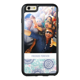 Custom Photo & Text Ethnic Paisley Pattern OtterBox iPhone 6/6s Plus Case
