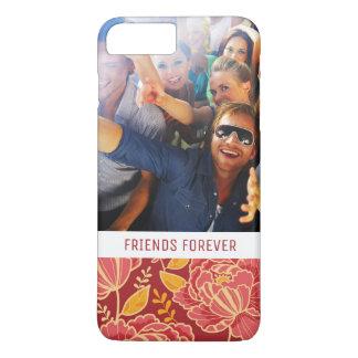 Custom Photo & Text Fall Garden Pattern iPhone 8 Plus/7 Plus Case