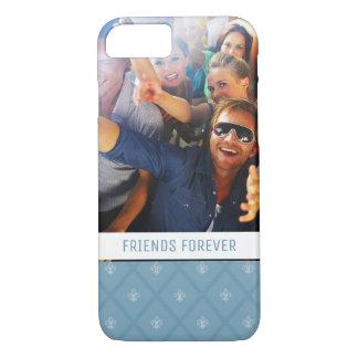 Custom Photo & Text Fleur-de-lis pattern iPhone 8/7 Case