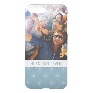 Custom Photo & Text Fleur-de-lis pattern iPhone 8 Plus/7 Plus Case