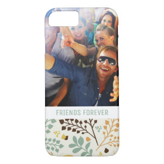Custom Photo & Text Floral Butterfly Pattern iPhone 8/7 Case