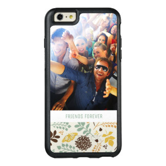 Custom Photo & Text Floral Butterfly Pattern OtterBox iPhone 6/6s Plus Case
