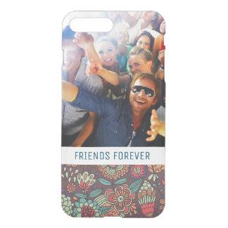Custom Photo & Text floral cartoon pattern iPhone 8 Plus/7 Plus Case