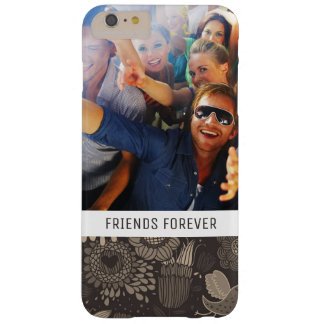 Custom Photo & Text Floral pattern with birds 2 Barely There iPhone 6 Plus Case