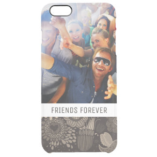 Custom Photo & Text Floral pattern with birds 2 Clear iPhone 6 Plus Case