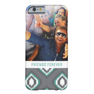 Custom Photo & Text Geometric Retro Ikat Pattern Barely There iPhone 6 Case
