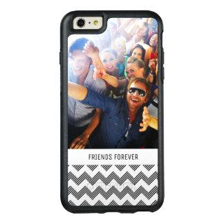 Custom Photo & Text Geometric zigzag pattern OtterBox iPhone 6/6s Plus Case