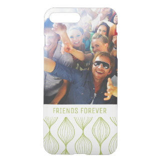 Custom Photo & Text Green Ogee Pattern iPhone 8 Plus/7 Plus Case