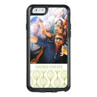 Custom Photo & Text Green Ogee Pattern OtterBox iPhone 6/6s Case