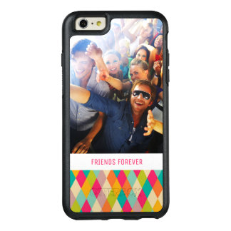 Custom Photo & Text Harlequin vintage pattern OtterBox iPhone 6/6s Plus Case