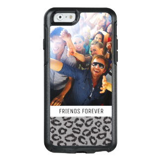 Custom Photo & Text lace with leopard pattern OtterBox iPhone 6/6s Case