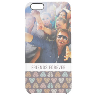 Custom Photo & Text Leaf pattern 2 Clear iPhone 6 Plus Case