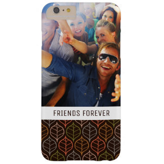 Custom Photo & Text Leaves pattern Barely There iPhone 6 Plus Case