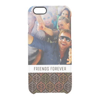 Custom Photo & Text Leaves pattern Clear iPhone 6/6S Case
