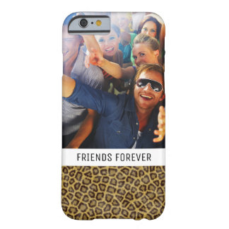 Custom Photo & Text Leopard Fur Barely There iPhone 6 Case