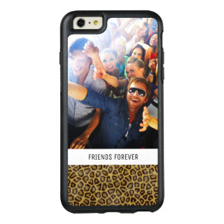 Custom Photo & Text Leopard Fur OtterBox iPhone 6/6s Plus Case