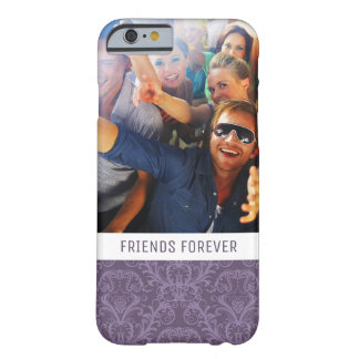 Custom Photo & Text Luxury Purple Wallpaper Barely There iPhone 6 Case