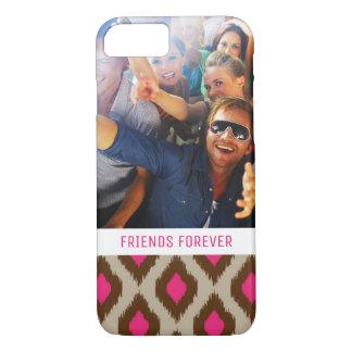 Custom Photo & Text Modern ikat pattern iPhone 8/7 Case