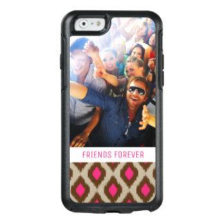 Custom Photo & Text Modern ikat pattern OtterBox iPhone 6/6s Case