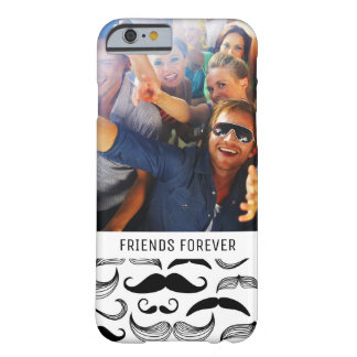 Custom Photo & Text Mustache pattern 2 Barely There iPhone 6 Case