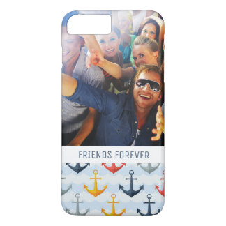 Custom Photo & Text Nautical Pattern with Anchors iPhone 8 Plus/7 Plus Case
