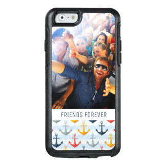 Custom Photo & Text Nautical Pattern with Anchors OtterBox iPhone 6/6s Case