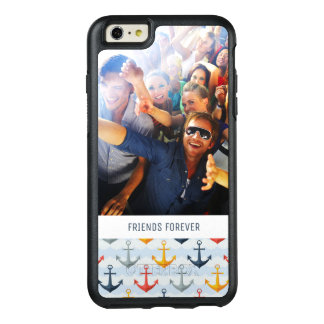 Custom Photo & Text Nautical Pattern with Anchors OtterBox iPhone 6/6s Plus Case
