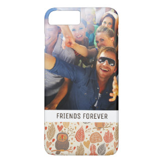 Custom Photo & Text Owls in the Forest Pattern iPhone 8 Plus/7 Plus Case