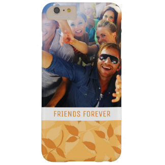 Custom Photo & Text Pattern with autumn leaves Barely There iPhone 6 Plus Case