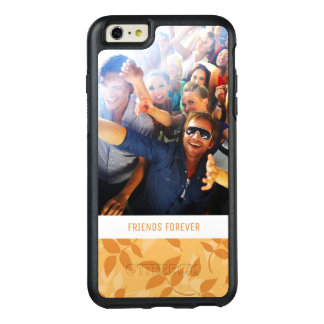 Custom Photo & Text Pattern with autumn leaves OtterBox iPhone 6/6s Plus Case