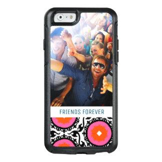 Custom Photo & Text Pink Suzani Pattern OtterBox iPhone 6/6s Case