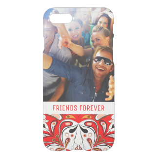 Custom Photo & Text Portuguese Tile Pattern iPhone 8/7 Case