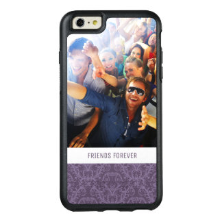Custom Photo & Text Purple floral wallpaper 2 OtterBox iPhone 6/6s Plus Case