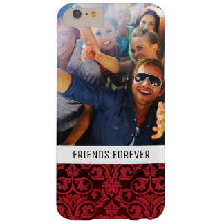 Custom Photo & Text Red wallpaper 2 Barely There iPhone 6 Plus Case