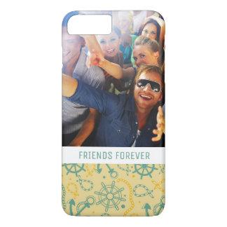 Custom Photo & Text Retro Anchor & Ropes iPhone 8 Plus/7 Plus Case